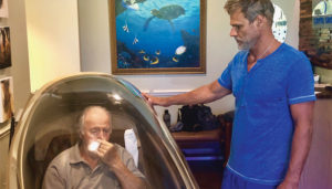 Dr. John Lieurance with a CVAC