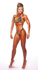Teresa Caracciolo's successful surgery to remove fibroids from her uterus left no scars visible to judges during Women's Figure competitions.